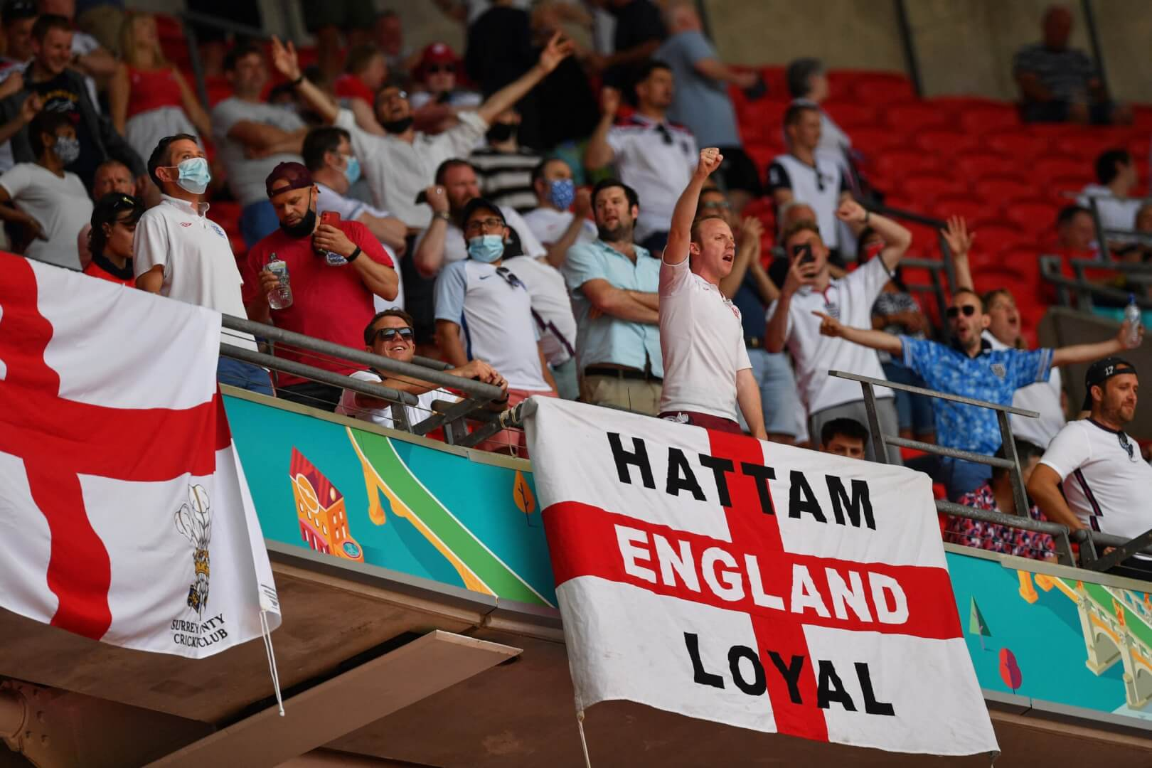 England fans Wembley